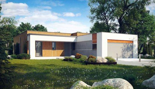 przykład domu z płaskim dachem